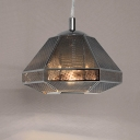 Silver Pendant Light Cell Short
