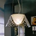 Modern And Elegant Clear Cone Shaded Large Pendant Lights