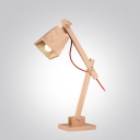 "Swing Arm Wood Designer Kid's Room Table Lamp 19.6""High"