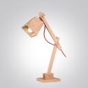 "Swing Arm Wood Designer Kid's Room Table Lamp 19.6""High"