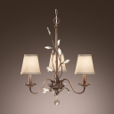 Chic and Beautiful Three Lights Crystal Leaf and Ball Mini Chandelier