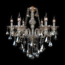 Hand-Cut Crystal Pedants Six Candle Light 23.6