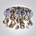 Cognac Color Crystal Floral and Balls 15.7