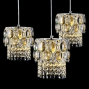 Luxurious Crystal Beads and Delicate Finish Detailing Add Charm to Multi-light Ceiling Light Fixture