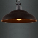 Rust/Black/White Iron 1 Light Barn Indoor Pendant Light