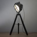 Elegant Tripod Black LED Floor Lamp