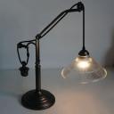 Farmhouse Style 1 Light Single Light LED Table Lamp with Glass Shade