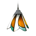 Stained Glass Tiffany Style Mini Pendant Light with 6/7 Inch Width Shade