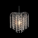 Chrome Modern 1-light Mini Chandelier with Waterfall Crystal Strands