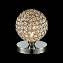 Decorative Globe Metal Frame Mounted with Crystal Makes Contemporary Look Table Lamp
