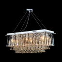 Hanging Crystal Strands Give Elegant Flowing Look Crystal Pendant Light