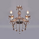 Graceful and Delicate Scrolls Peek from within Beautiful Crystal in Grand Delightful Chandelier