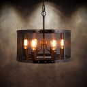 Round Iron Network 6-light Pendant in Industrial Style