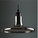 Disc Shape Smoke/White Industry LOFT Glass Pendant