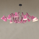 Designer Lighting Pink 12-light Spider with Strenching Arms