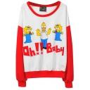 Mr.Simpson&Baby Print Sweatshirt