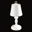 Concise Resin Designer Shaded Table Lamp  in White