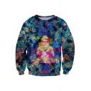 Ink Color Avalokitesvara Print Sweatshirt