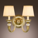 Glamorous Two-light Wall Sconce Completed with Antique Brass finish and Graceful Scrolls