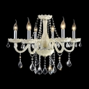 Gracefully Glass Arms Stunning Clear Crystal Droped  23.6