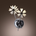 Large Crystal Flowers Design Accent Gorgeous Wall Sconce