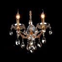 Grand Two Candelabra Fixtures Illuminate Timeless Crystal Wall Sconce in Contemporary Way
