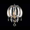 Bright Hand Cut Clear Crystal Shade and Droplets Modern Mini Pendnat Light