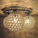 Elegant and Romantic 3-Light Crystal Beaded Balls 13.7