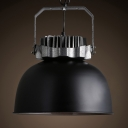 Bold Design Black Wrought Iron Antique Industrial Light for Bar