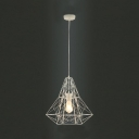 Vintage Industrial Style Large Cage LED Pendant Light with Reel Iron