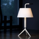 Black/White Classic Design Table Lamp with Fabric Shade