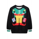 Toy Soldier Print Black Sweatshirt