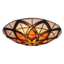 Tiffany Stunning Artful Flower Pattern 12 Inches Wide Flush Mount Ceiling Light