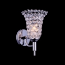 Elegant Single Light Flower-like Crystal Shade Stylish Wall Sconce Creating Chic and Exciting Embellishment For Home Decor