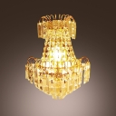 Sophisticated Innovative Crystal Wall Sconce Offers Welcomed Addition to Any Luxury Decor