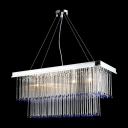 Gorgeous Dazzle and Geometric Discipline Meet Stunning Crystal Pendant Chandelier