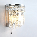 Bring Contemporary Style and Chic Lighting to Your Decor with Gorgeous Clear Crystal Wall Sconce