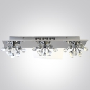 Make Your Surroundings Enticing With Modern Wall Sconce Features Chrome Finish and Crystal Balls