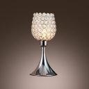 Beautiful Fashionable Table Lamp Features Vase-style Frame and Mounted with Crystal Beads