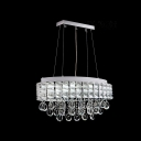 Stunning Pendant Features Clear Crystals and Polished Chrome Frame Offers Cool Collected Look