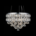 Clear Crystal Diamonds Cascade Faceted Crystal Embedded 5-Light Pendant Light