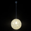 Impact Globe Crystal Beaded Creative Mini Pendant Light for Smaller Space