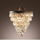 Contemporary Chandelier Based on Trim of Vintage Motorcycles Embellished with Clear Balls and Teardrops Create Energizing Shimmer