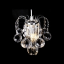 Swag-style Mini Chandelier with Maximum Elegance Featuring Chic Clear Crystal Elements