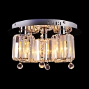 Featuring Stylish Design with Contemporary Crystal Shapes Creating Breathtaking Exquisite Ceiling Light