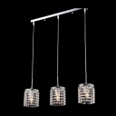 Striking Strands of Clear Crystal Beads Adorned Gleaming Multi-Light Pendant Creating Graceful Feel to Any Room