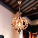1 Light Mini Pendant Twine LED Ceiling Lamp