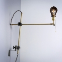 Industrial Bold Design Vintage CountryGourd Shaped Wall Light with Swing Arm