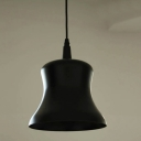 "Graceful Black 7.6""Wide Industrial Warehouse Pendant Light with Round Canopy"