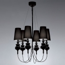 "Empire Shaded Designer Chandelier Light 29.5""Wide 6-Light"